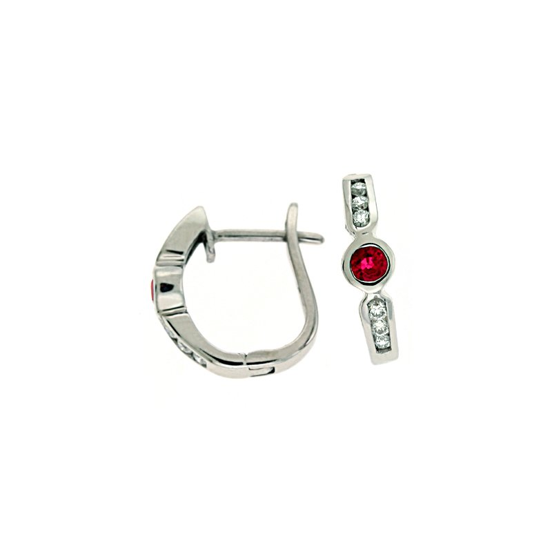 S. Kashi  & Sons Ruby & Diamond Earring