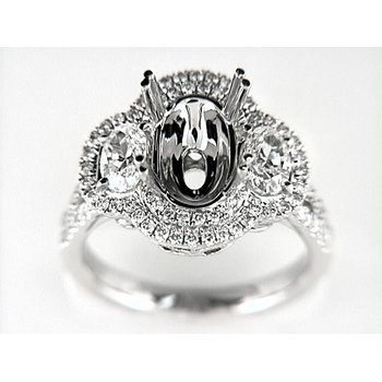 14K W RING 88RD 0.56CT / 2OV 0.94CT