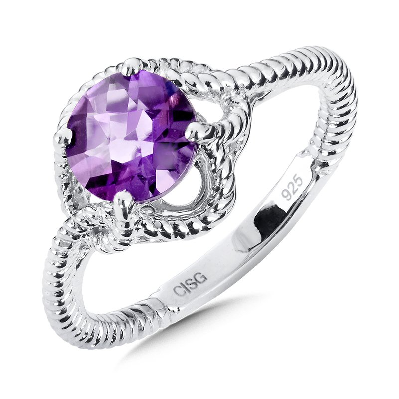 Colore Sg Sterling Silver Amethyst Ring