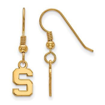 Gold-Plated Sterling Silver Michigan State University NCAA Earrings