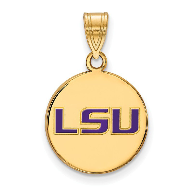 NCAA Gold-Plated Sterling Silver Louisiana State University NCAA Pendant