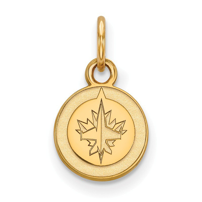 NHL Gold-Plated Sterling Silver Winnipeg Jets NHL Pendant