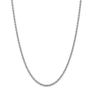 14k WG 3.0mm Regular Rope Chain