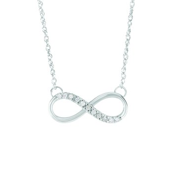 14K Gold .10ct Diamond Infinity Necklace