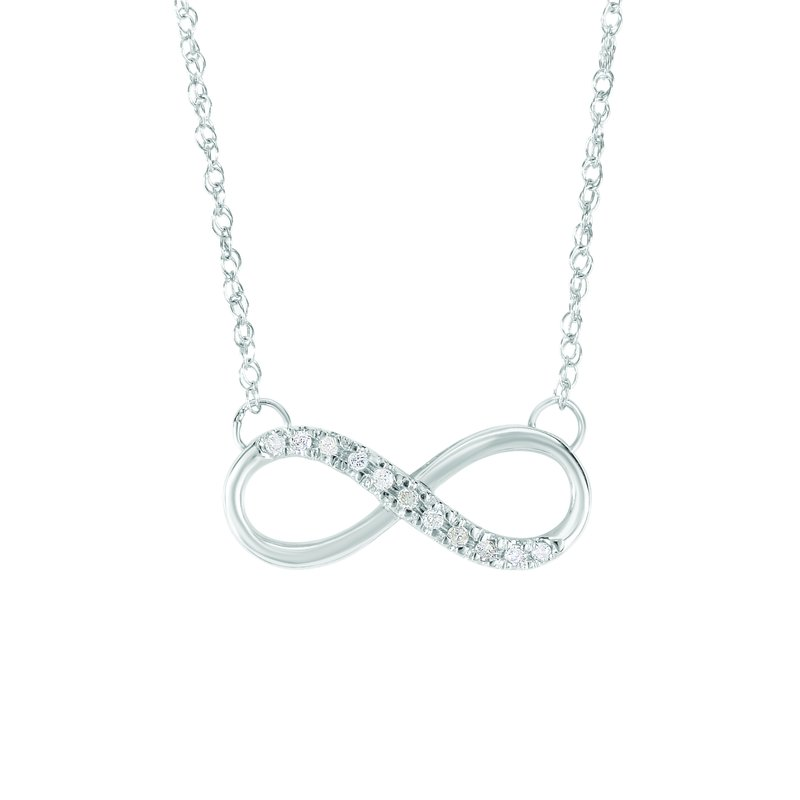 Royal Chain 14K Gold .10ct Diamond Infinity Necklace