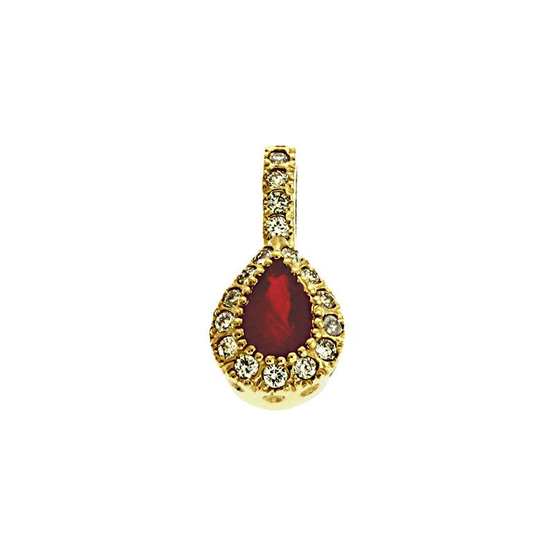 Briana Ruby & Diamond Pendant