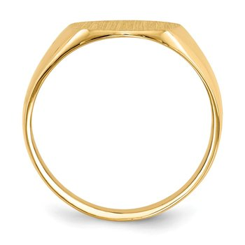 14k 13.0x11.5mm Open Back Mens Signet Ring