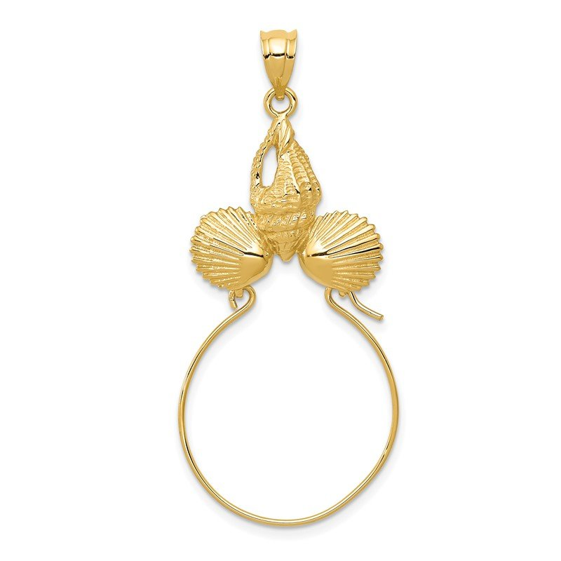Quality Gold 14k Sea Shell Charm Holder