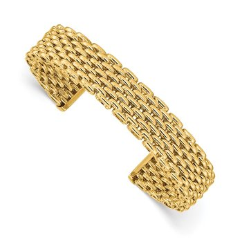 14K Polished Cuff Bangle