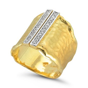 14K-Y GALLERY RING, 0.25CT