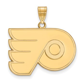 Gold Philadelphia Flyers NHL Pendant