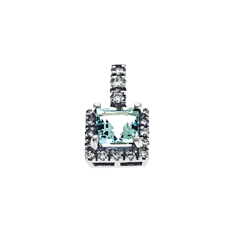 S. Kashi  & Sons Aquamarine & Diamond Pendant