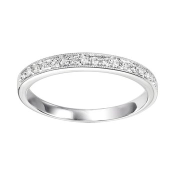 Diamond ¼ Eternity Slim Stackable Band in 10k White Gold