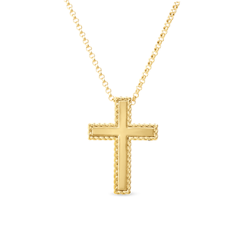 18Kt Gold Cross Necklace