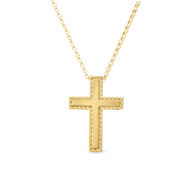 Roberto Coin 18KT GOLD CROSS NECKLACE