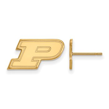 Gold Purdue University NCAA Earrings