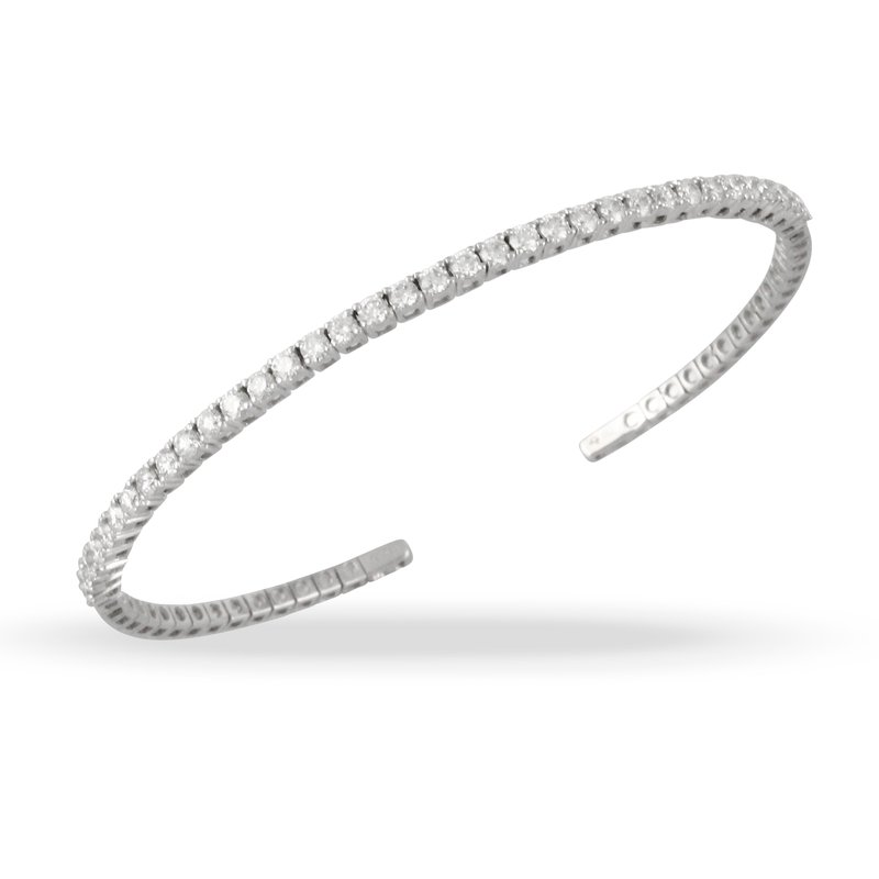 Doves 18KW Diamond Bangle Bracelet