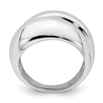 Sterling Silver Rhodium Plated Ring