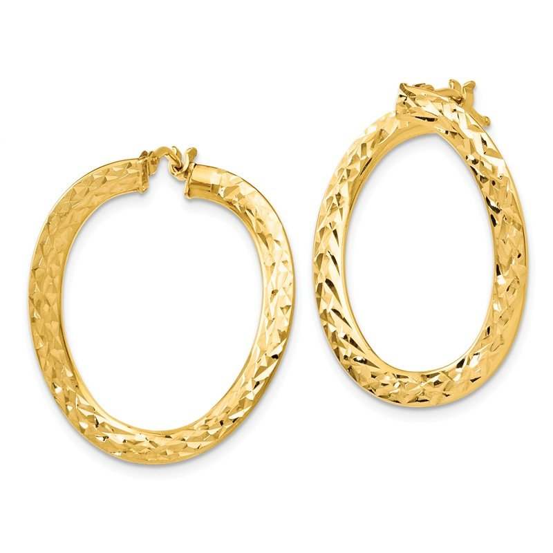 Leslie's Leslie's 14k Polished D/C Twisted Hoop Earrings