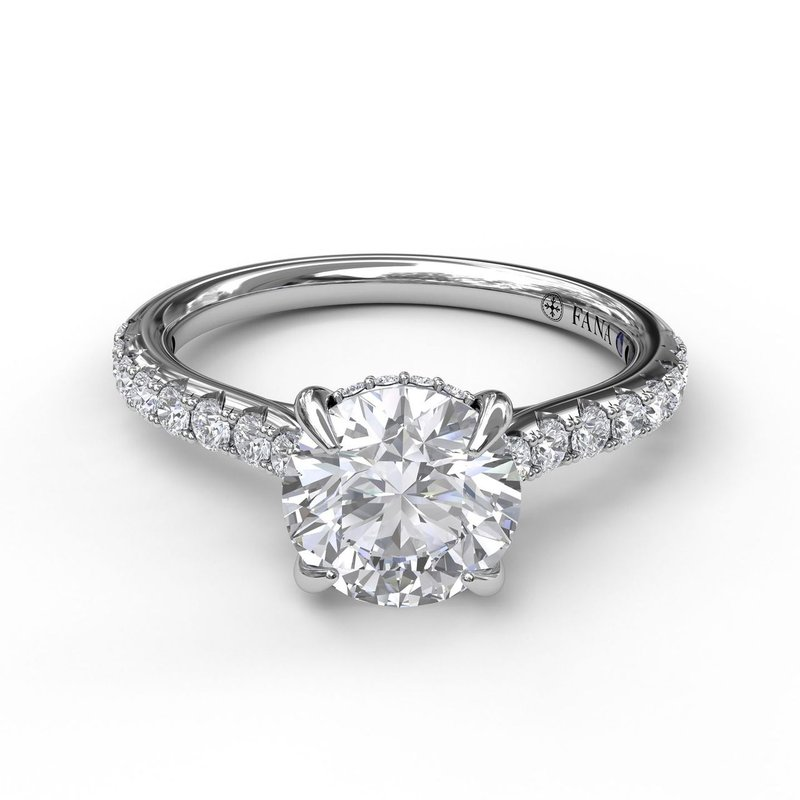 Fana Classic Round Cut Solitaire With Hidden Halo