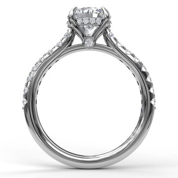 Classic Round Cut Solitaire With Hidden Halo