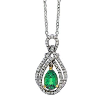 Elegant Emerald & Diamond Pendant