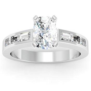 Baguette Diamond Engagement Ring