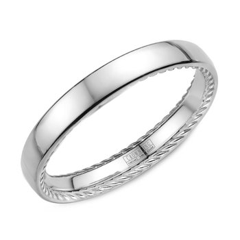 CrownRing Men's Wedding Band WB-012R25W
