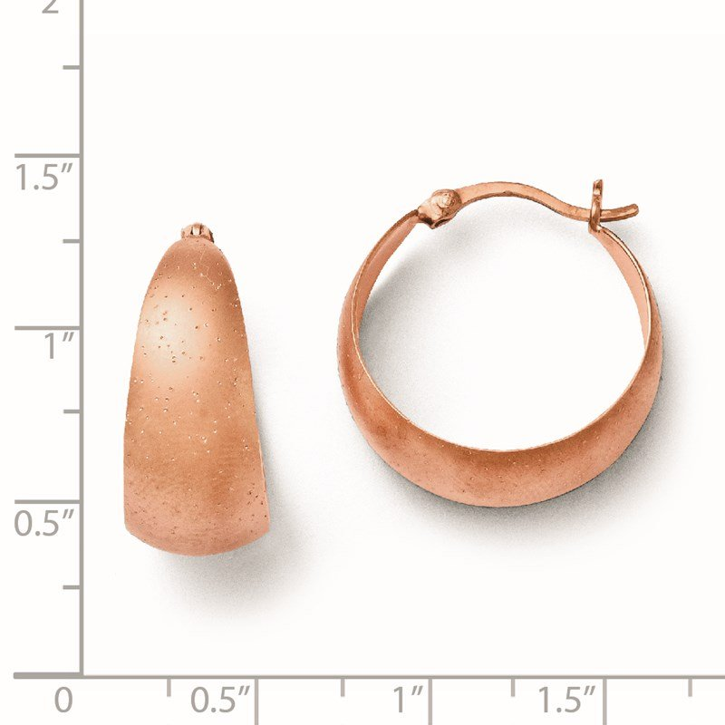 Leslie's Leslie's SS Rose Gold-plated Radiant Essence Hoop Earrings