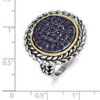 Shey Couture Sterling Silver w/14k Sapphire Ring