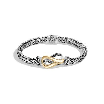 Asli Classic Chain Link Station Bracelet in Silver, 18K Gold