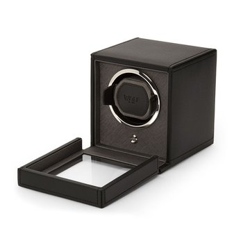 Cub Winder with Cover, black leather