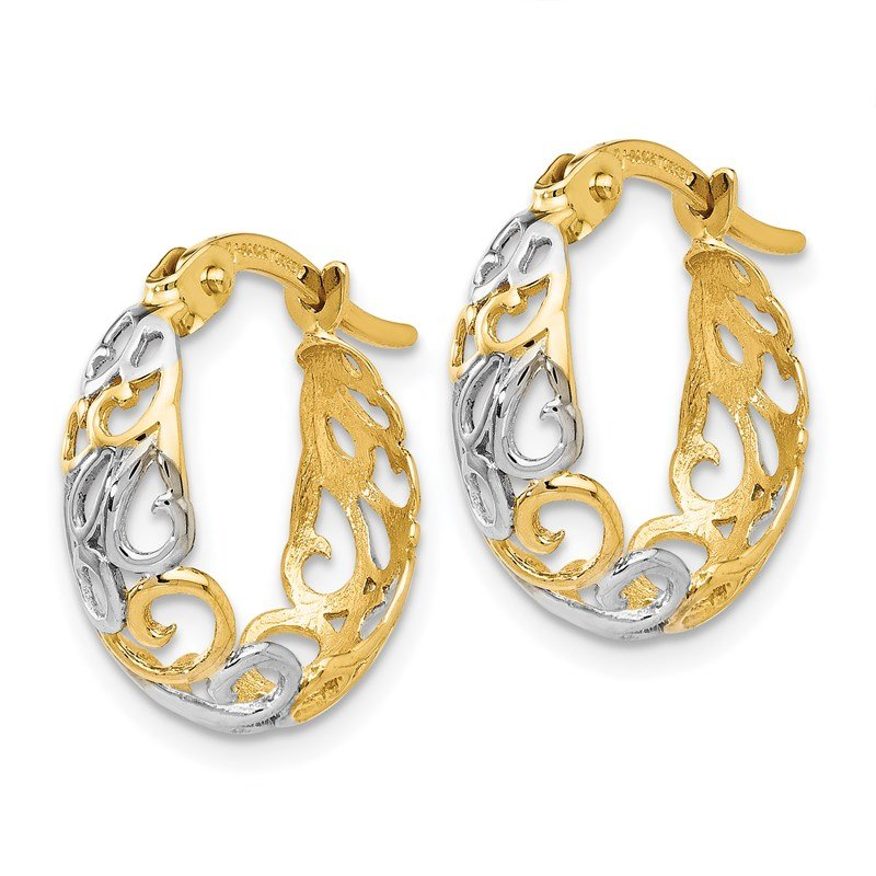 Leslie's Leslie's 14K Two-tone Gold Earrings