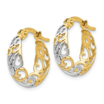 Leslie's 14K Two-tone Gold Earrings