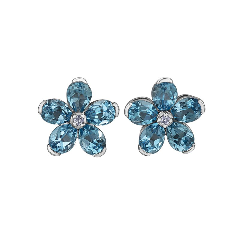 Forever Jewellery Swiss Blue Topaz Earring