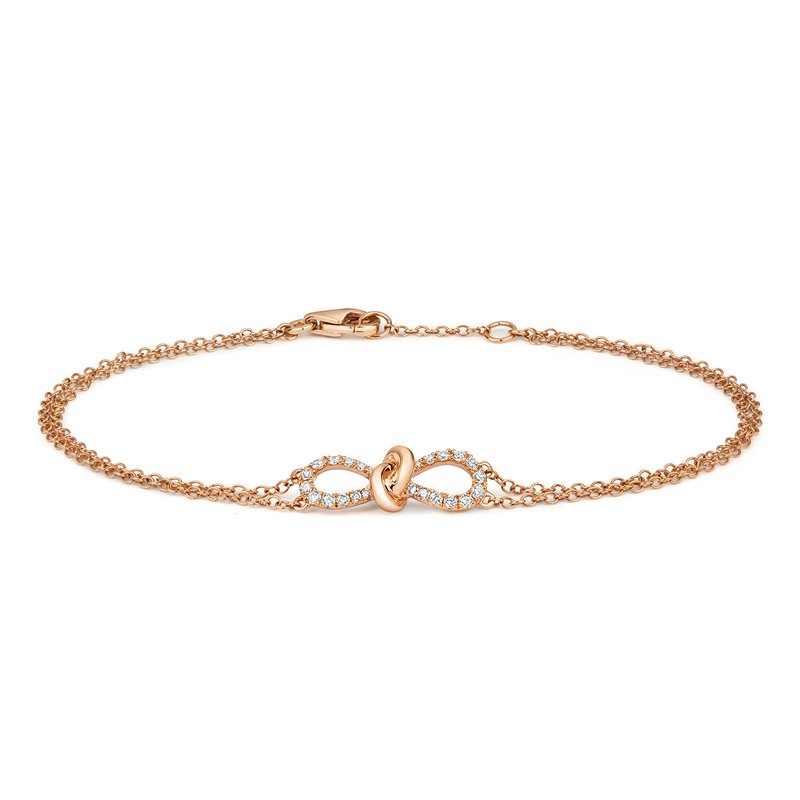Treasure Diamond Bow Bracelet 6.5/7Inch