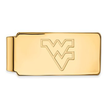 Gold-Plated Sterling Silver West Virginia University NCAA Money Clip