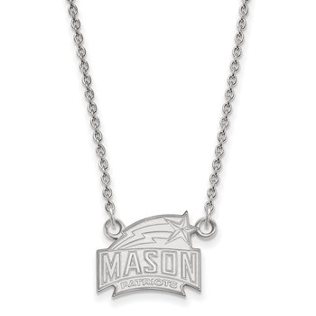 Sterling Silver George Mason University NCAA Necklace