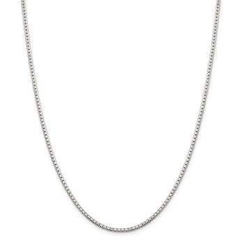 Sterling Silver 2mm 8 Sided Diamond-cut Box Chain