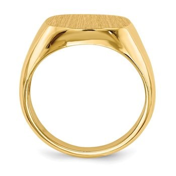 14k 14.0 x15.0mm Open Back Mens Signet Ring