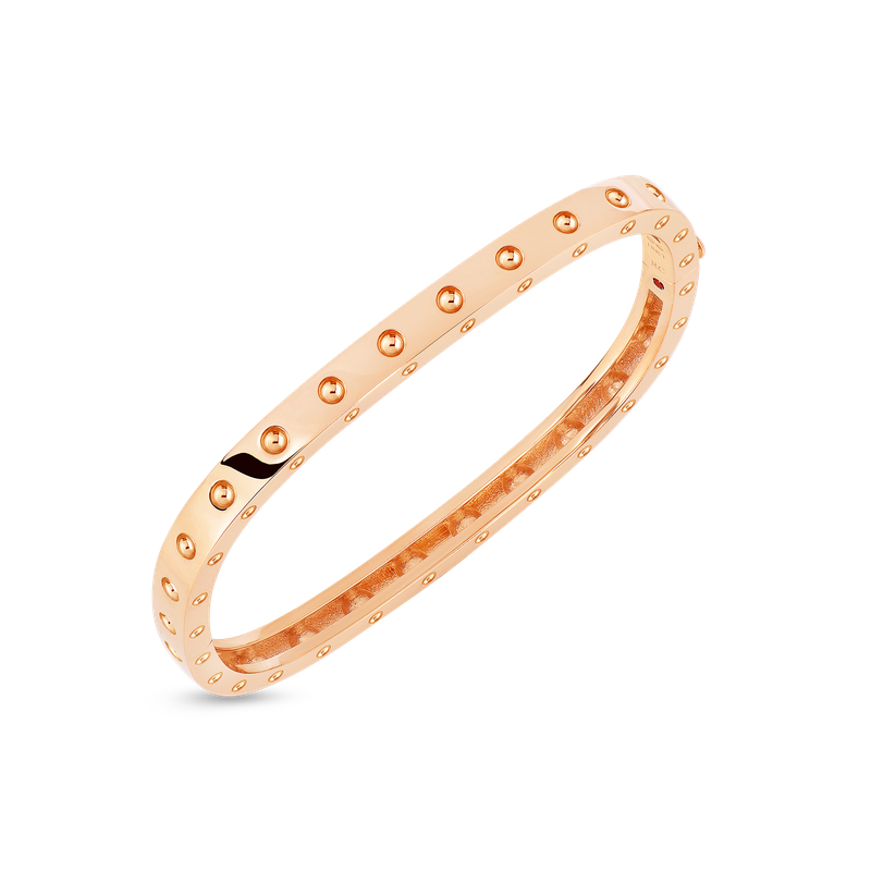Roberto Coin 1 Row Square Bangle &Ndash; 18K Rose Gold, S