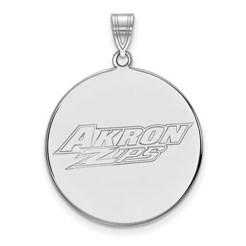 Sterling Silver University of Akron NCAA Pendant
