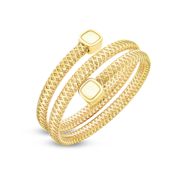 18KT GOLD FLEXIBLE TRIPLE WRAP BANGLE