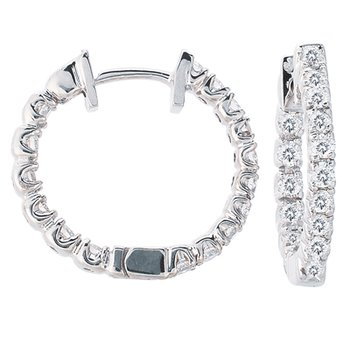 Diamond Hoop Earring 19mm