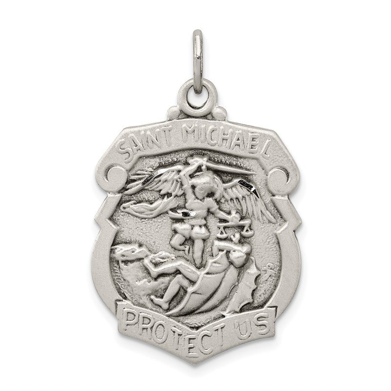 Sterling Silver D/C St. Michael Badge Medal