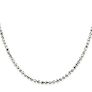Sterling Silver 4mm Beaded Chain