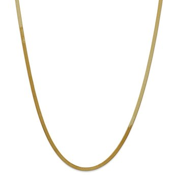 14k 3mm Silky Herringbone Chain
