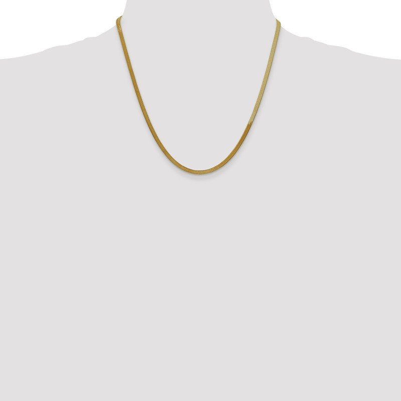 Quality Gold 14k 3mm Silky Herringbone Chain