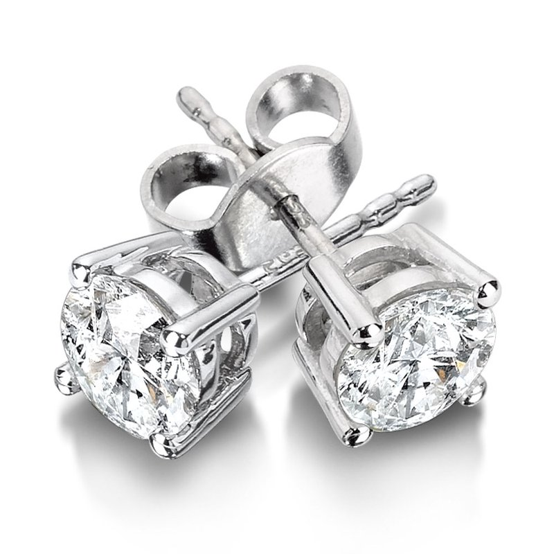 SDC Creations Four Prong Diamond Studs in 14k White Gold (1/4ct. tw.)