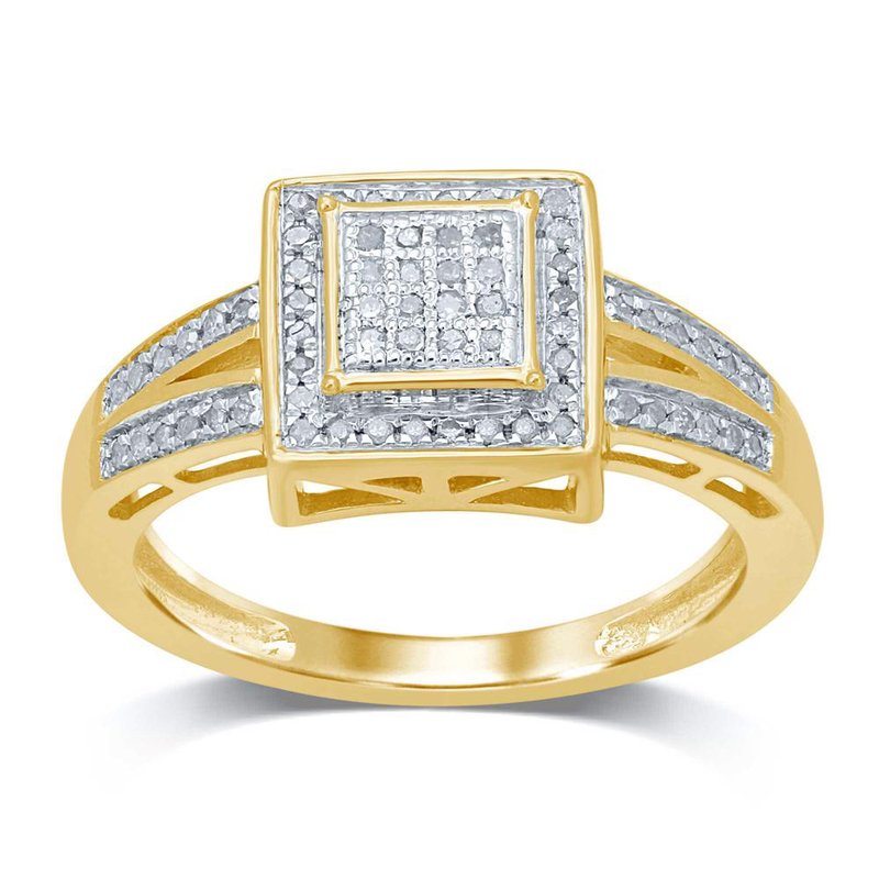Low Cost Luxury 10K 0.16Ct Diamond Ring